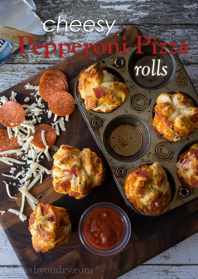 Cheesy Pepperoni Pizza Rolls