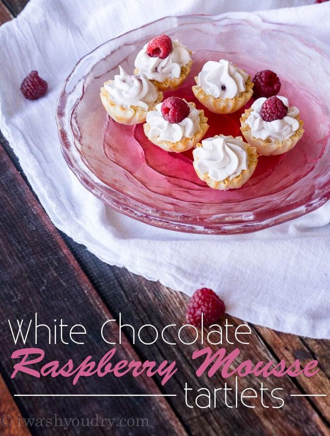 White Chocolate Raspberry Mousse Tartletts