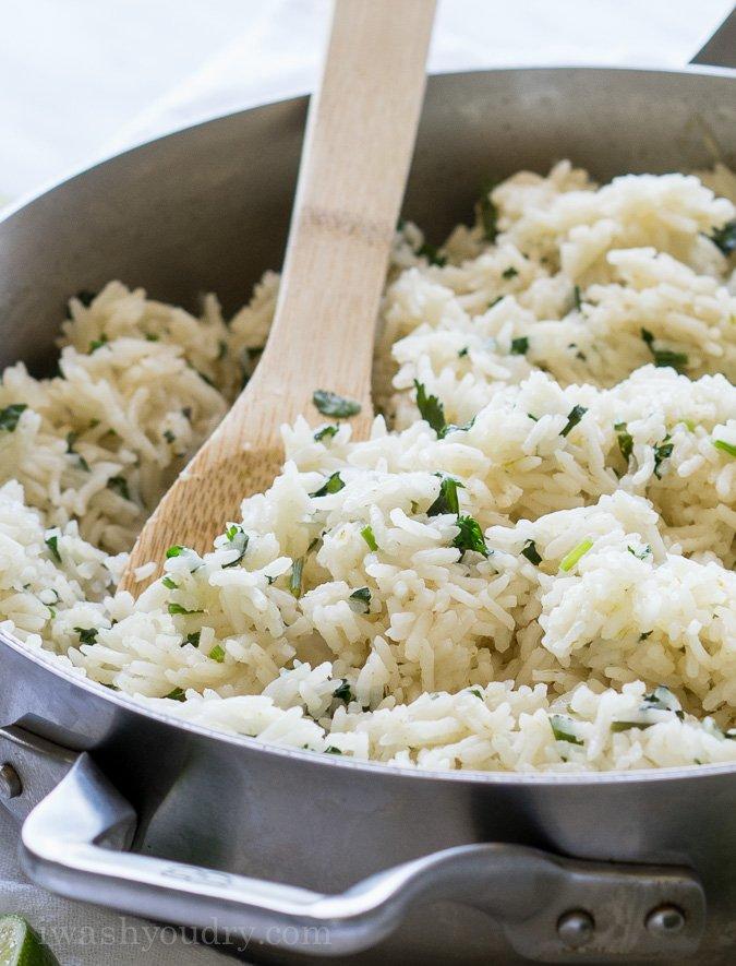Cilantro Lime Rice - I Wash... You Dry