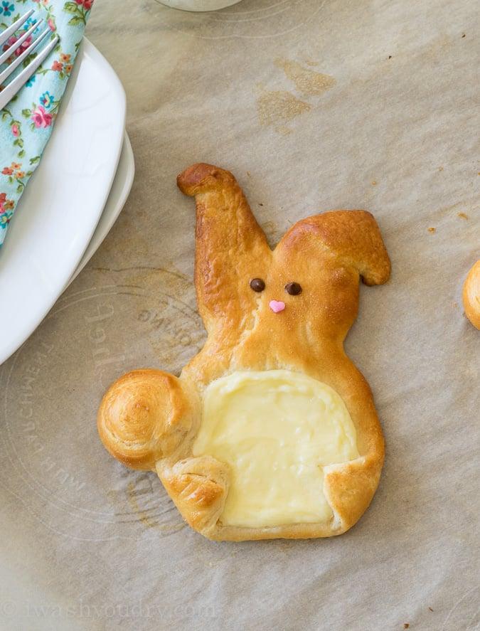 Easter Bunny Cream Cheese Danish