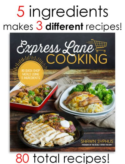Express Lane Cooking Cookbook by Shawn Syphus of I Wash You Dry