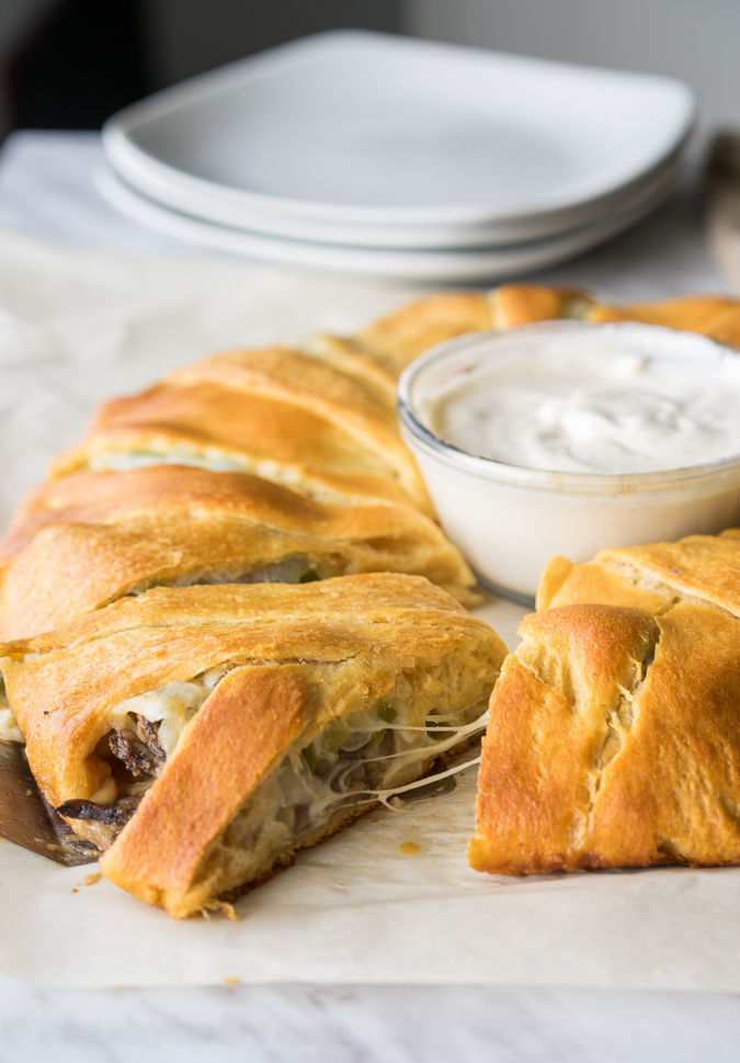 Philly Cheesesteak Crescent Ring-8