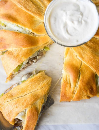 Philly Cheesesteak Crescent Ring
