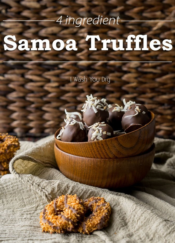 picture regarding Girl Scout Cookie Thank You Notes Printable referred to as Samoa Truffles I Clean Yourself Dry