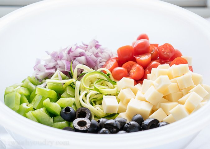Antipasto Zoodle Salad