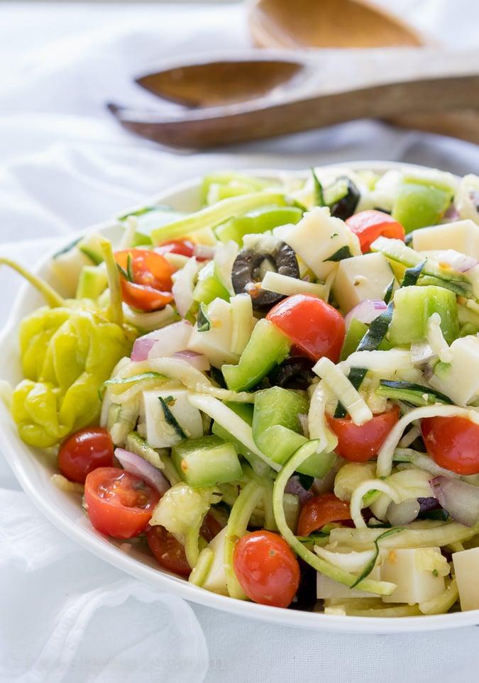 Antipasto Zoodle Salad