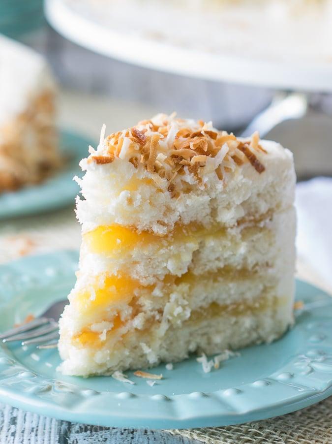 Coconut Lemon Layer Cake I Wash You Dry