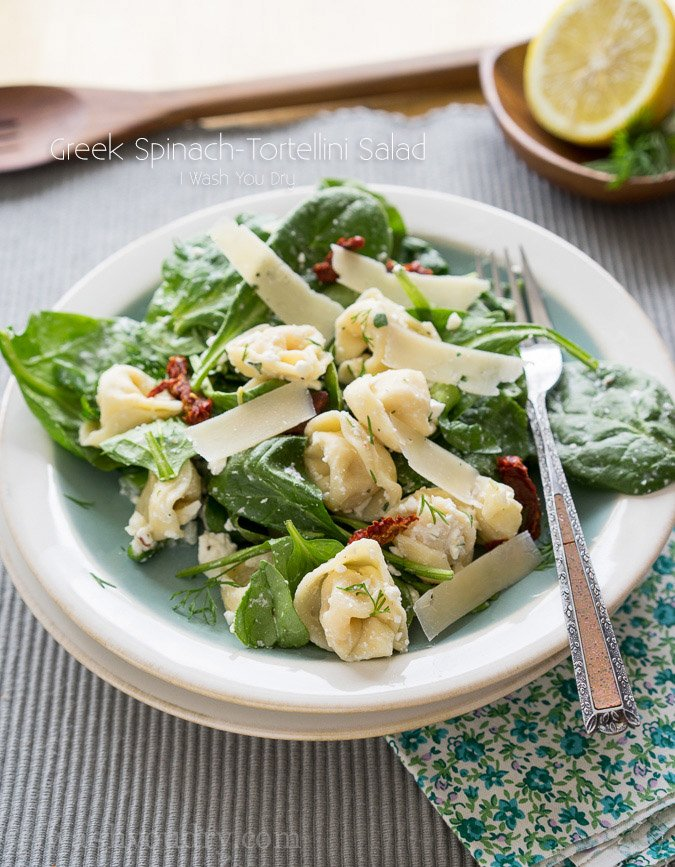 Greek Spinach-Tortellini Salad