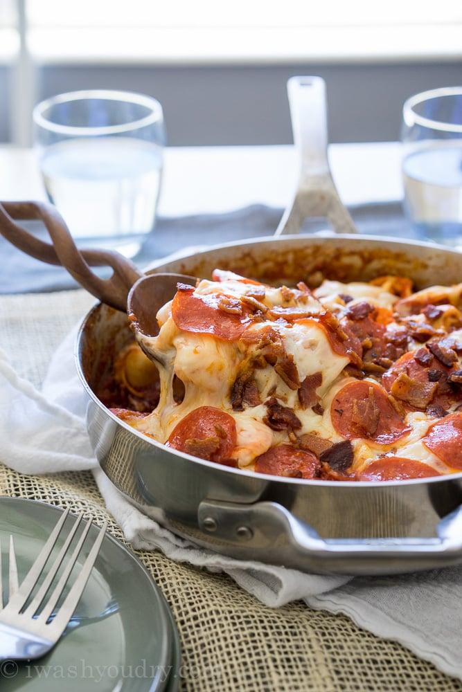 Meat Lover's Tortellini Skillet