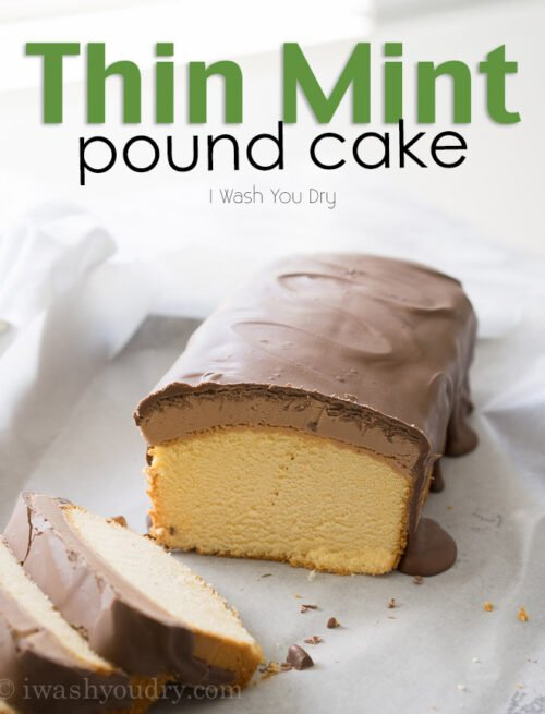 Thin Mint Pound Cake