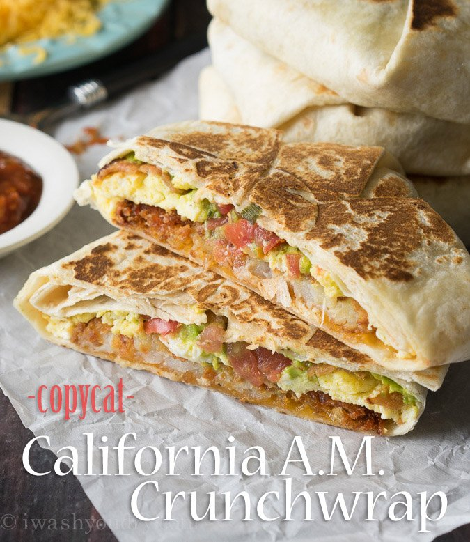 CopyCat California A.M. Crunchwrap with bacon and avocado!