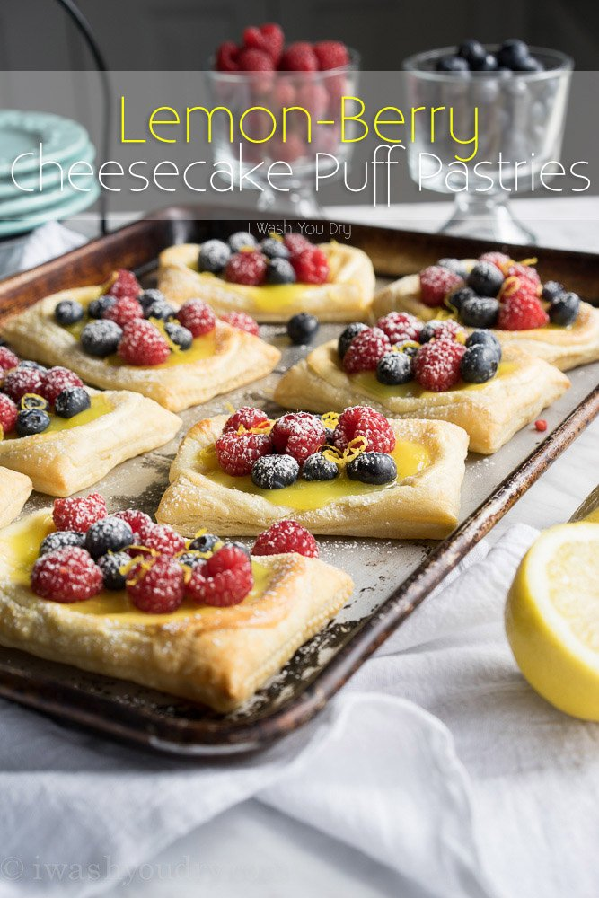 Lemon Berry Cheesecake Puff Pastries