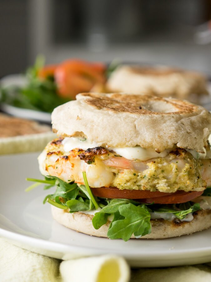 Tender Grilled Shrimp Burger