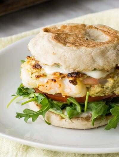 Tender Grilled Shrimp Burger