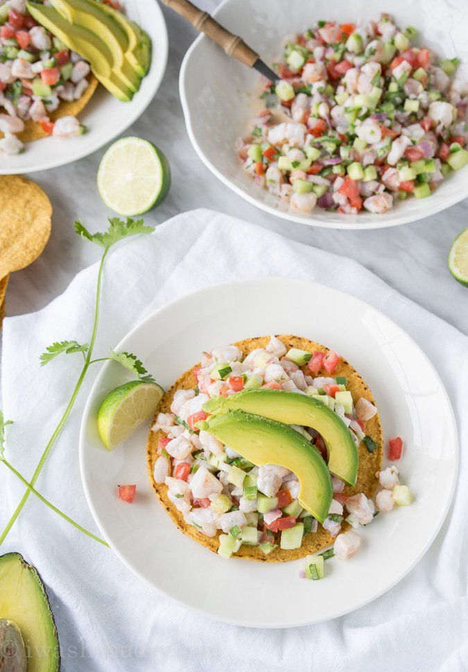 Shrimp Ceviche Tostada - I Wash You Dry