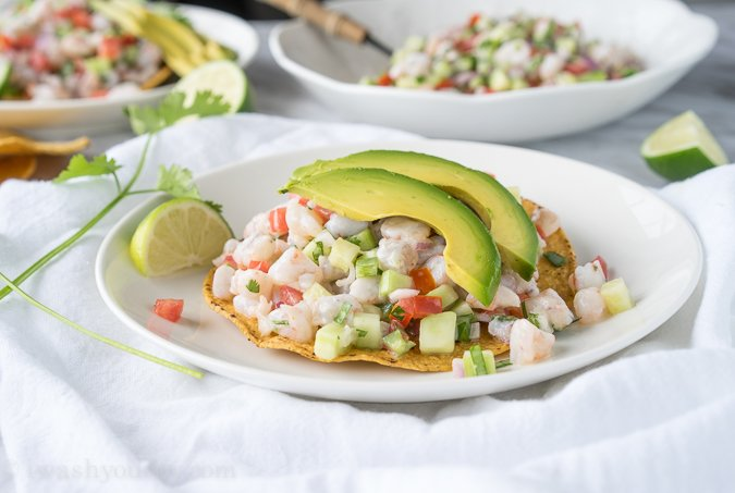 Shrimp Ceviche Tostada - I Wash... You Dry