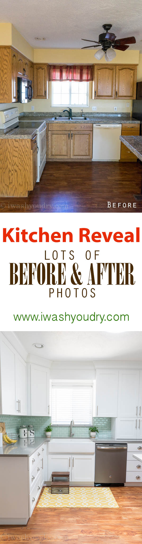 Amazing Before and After photos of a kitchen renovation! Love this!