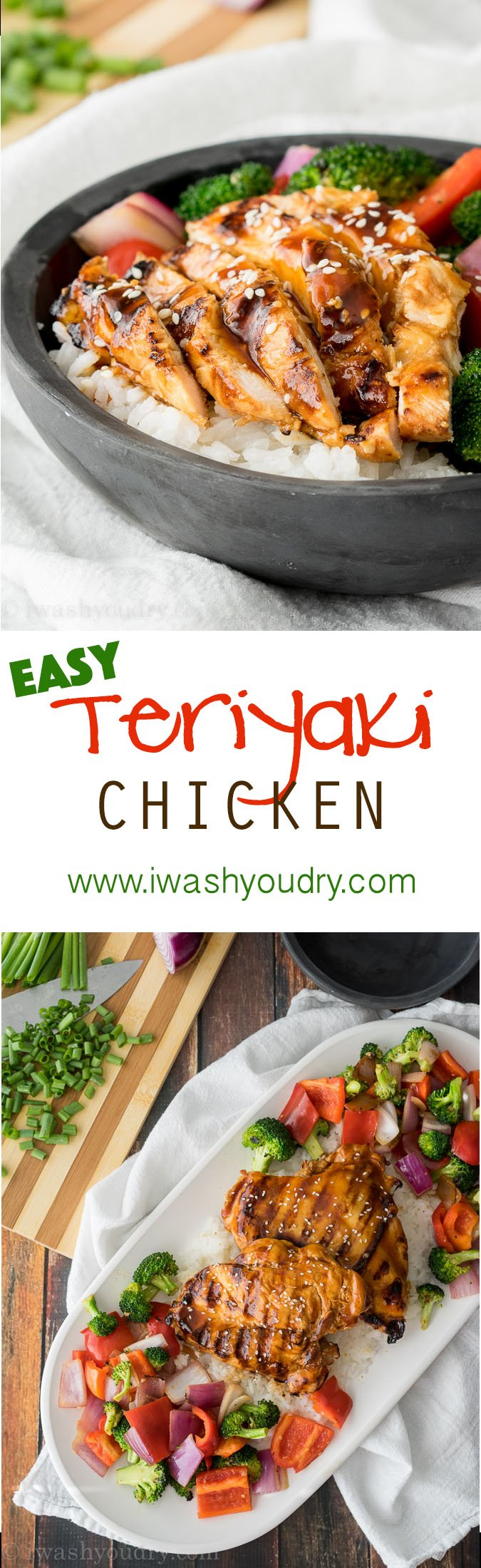 Super Easy Teriyaki Chicken with a killer marinade! My family loved this recipe, definitely a keeper!