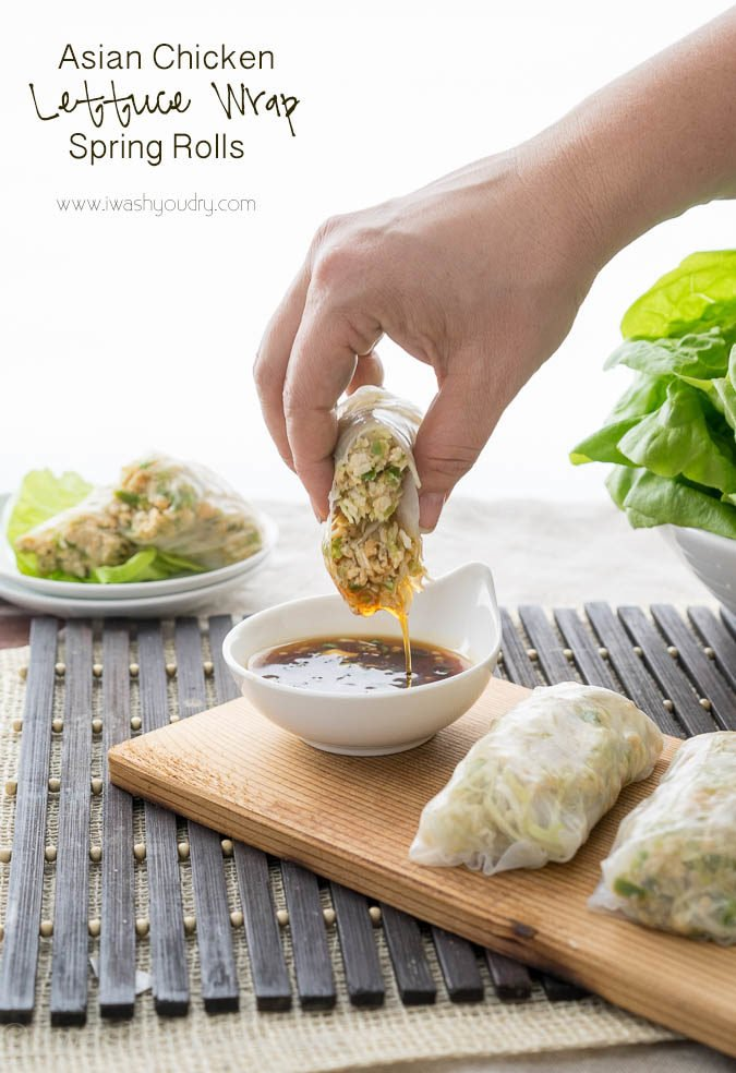 Asian Chicken Lettuce Wrap Spring Rolls - I Wash... You Dry
