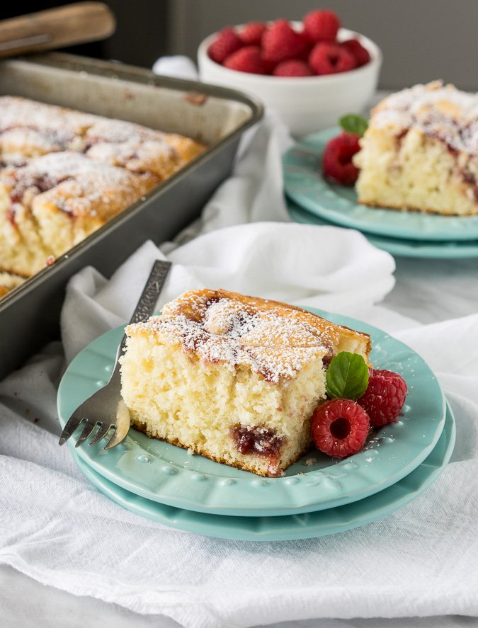 Cream Cheese Raspberry Coffee Cake