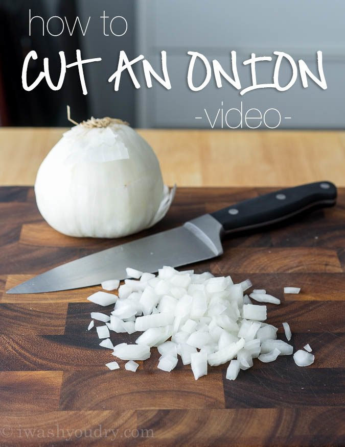 How To Cut An Onion