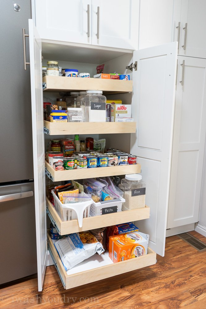 Roll Out Pantry Shelves for extra deep pantry!