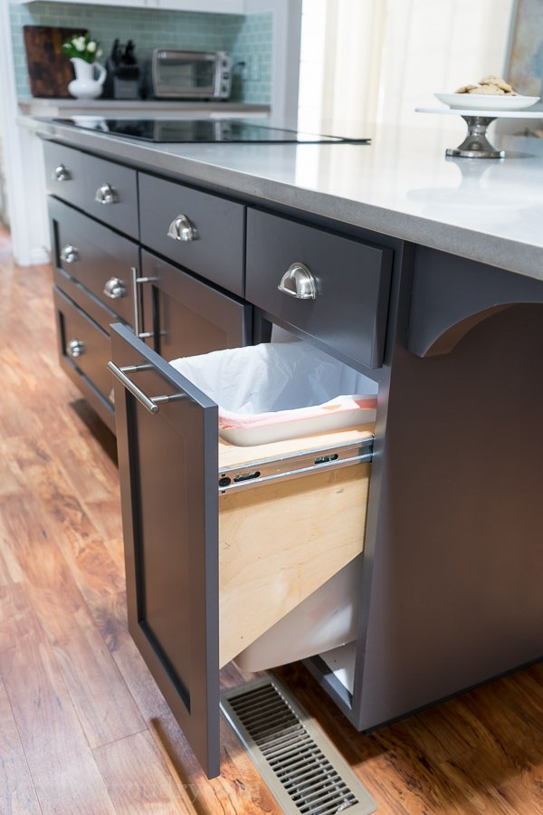 trash cabinet kitchen hacks to organize and make your kitchen flow better 27298