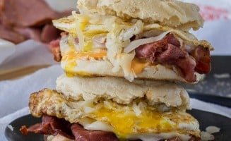 Reuben Breakfast Sandwich