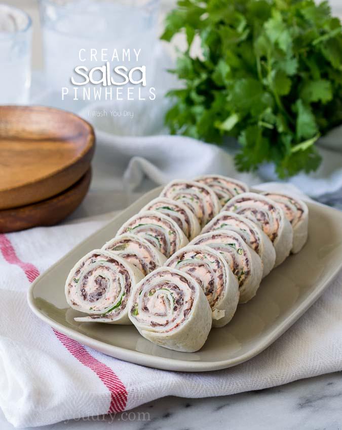 Creamy Salsa Pinwheels