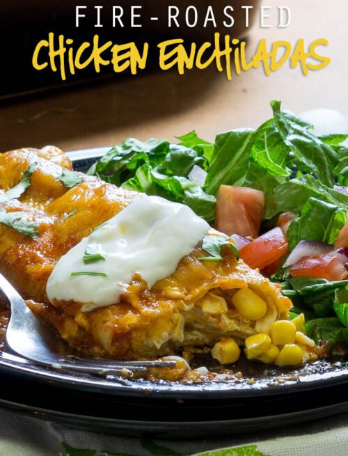 Fire-Roasted Chicken Enchiladas