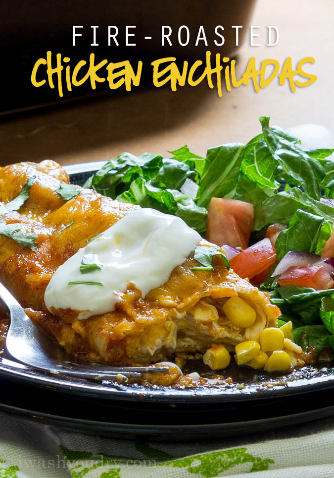 Fire-Roasted Chicken Enchiladas