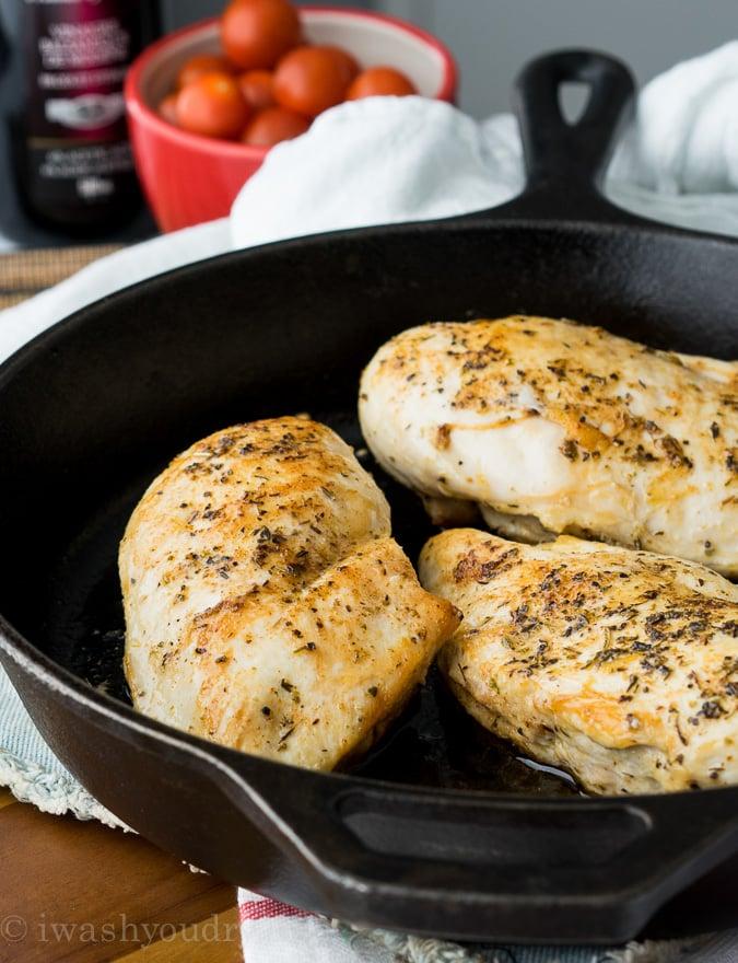 Chicken Caprese Skillet