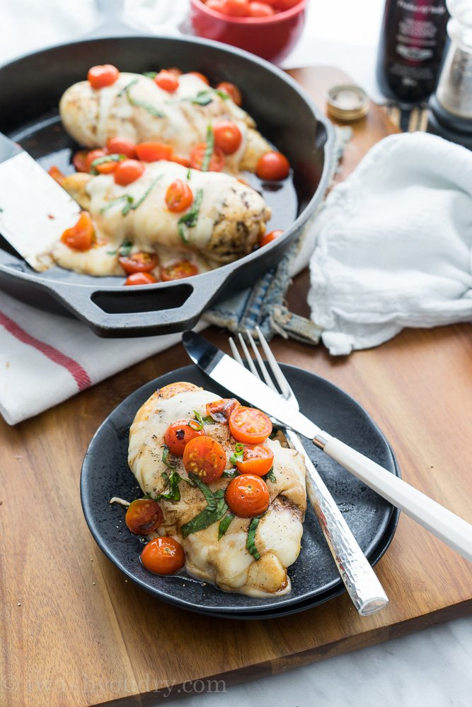 Chicken Caprese Skillet I Wash You Dry