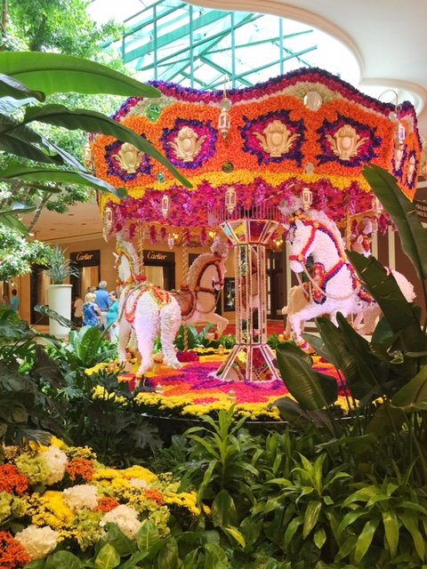 Carousel of Flowers at Bellagio hotel in Las Vegas!