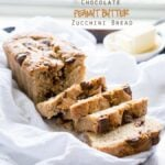 Chocolate Peanut Butter Cup Zucchini Bread