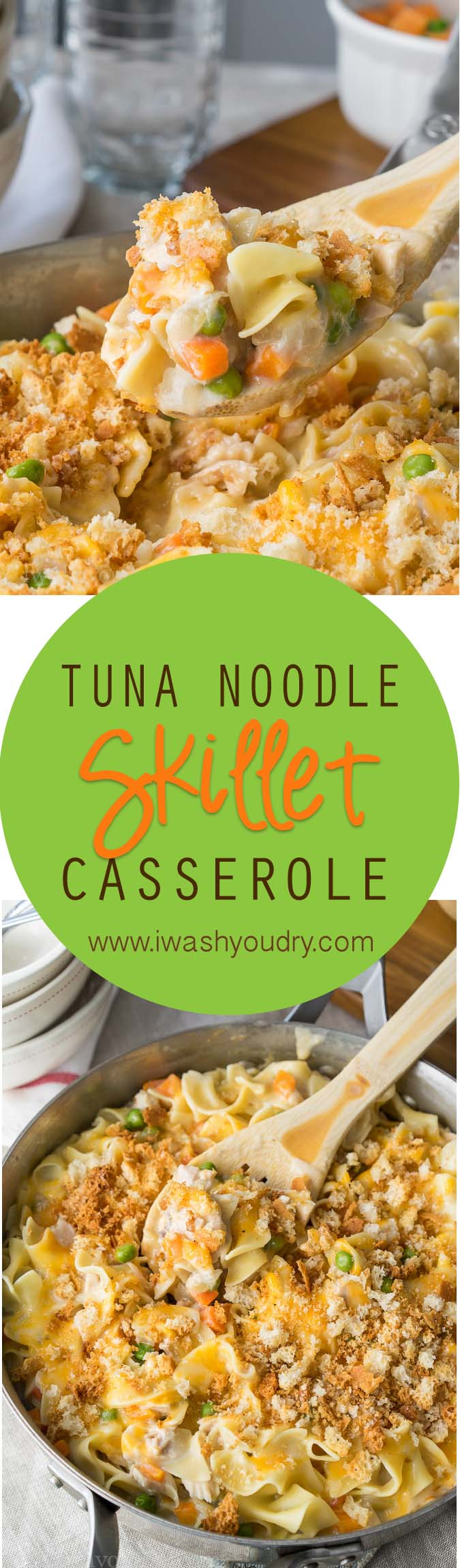 Mom's classic Tuna Noodle Casserole made better! Just ONE SKILLET!