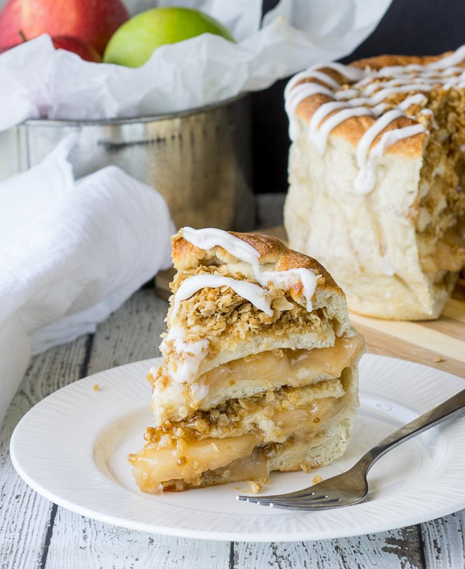 Apple Pie Pizza Cake! Layers upon layers of delicious Fall flavors!