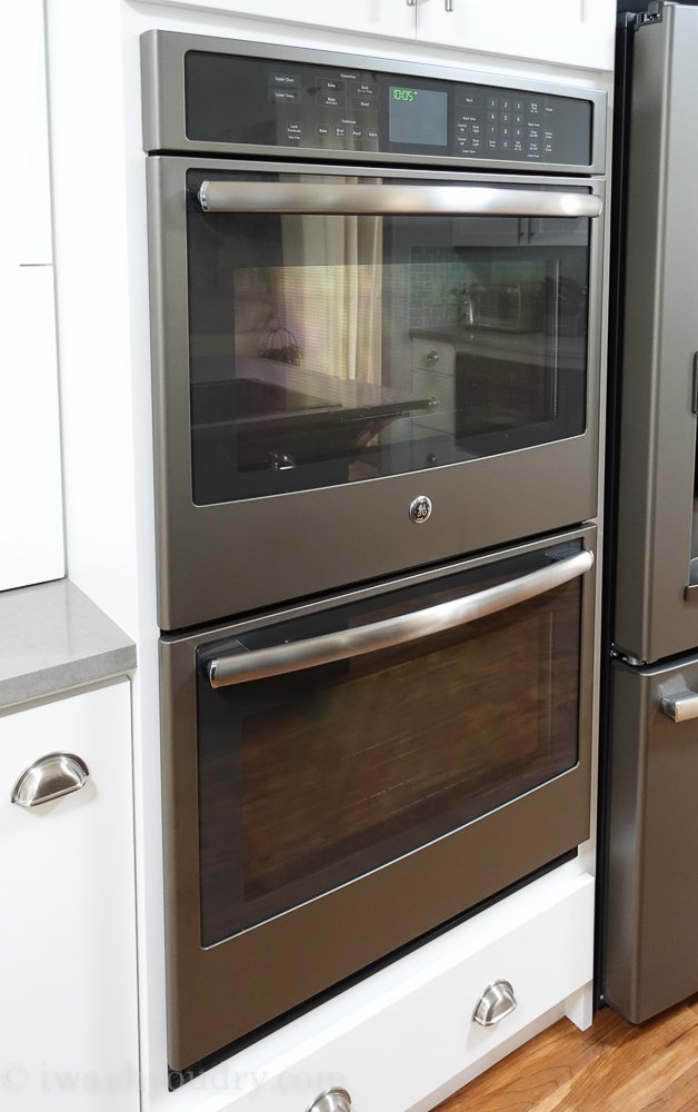GE Profile Double Wall Oven in Slate!