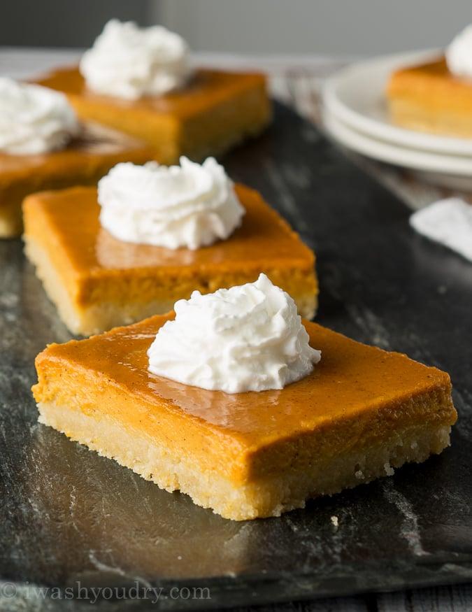 Pumpkin Pie Bars I Wash You Dry