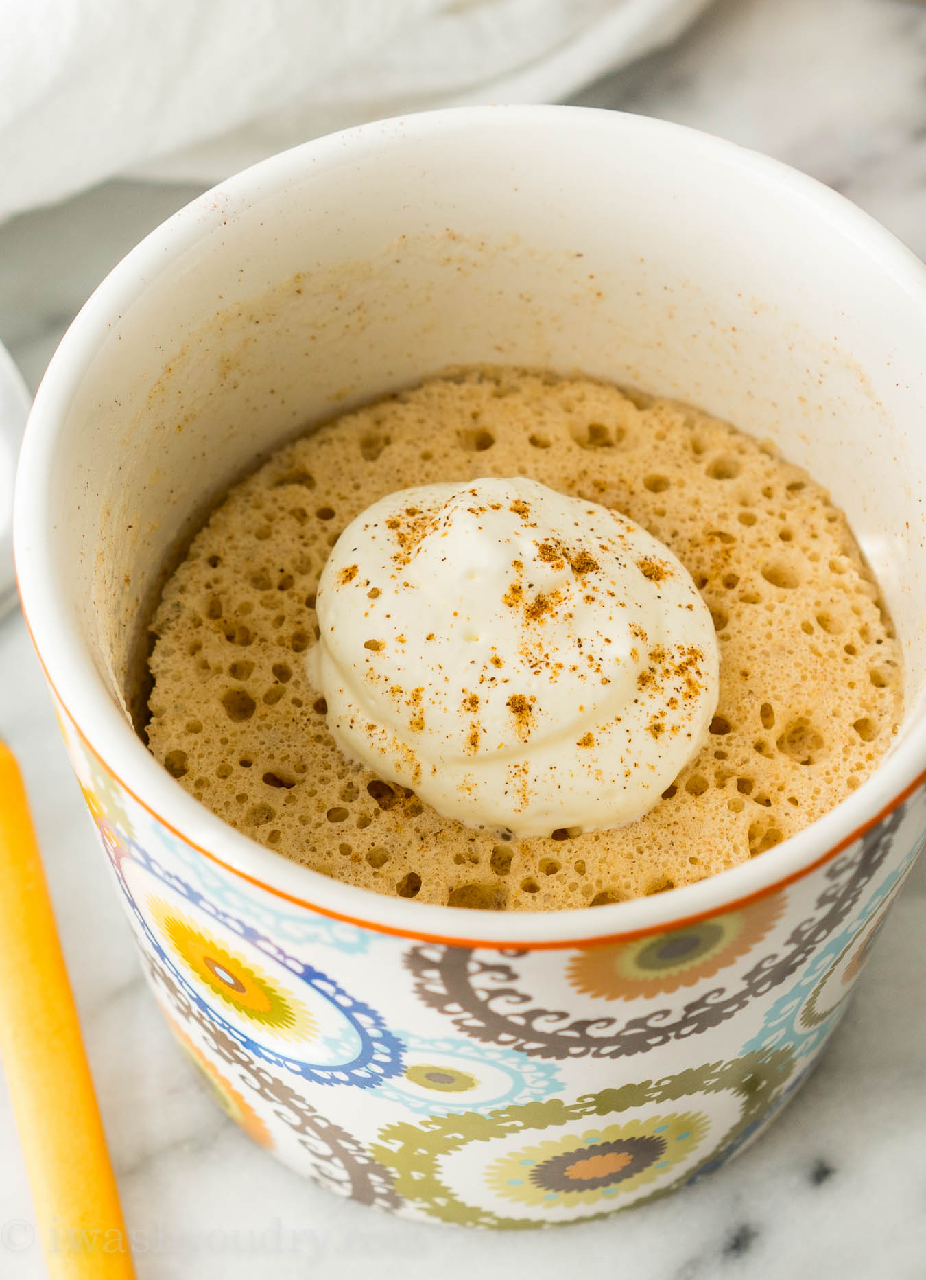 2 Ingredient Spiced Mug Cake I Wash You Dry