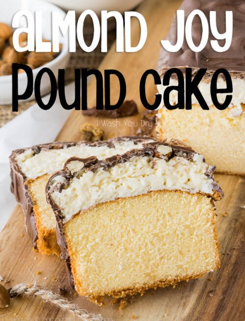 This Super Easy Almond Joy Pound Cake is almost too easy to make. I love how the almonds are put on! haha