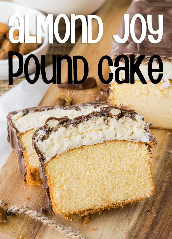 Super Easy Almond Joy Pound Cake