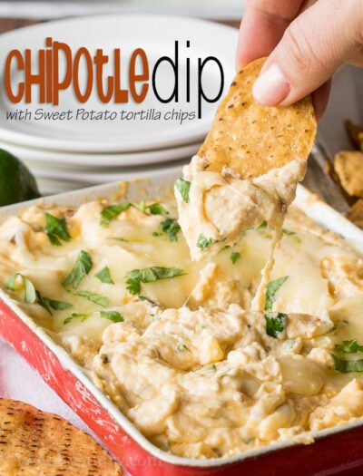 If you thought sweet potato fries were awesome, just wait till you try these sweet potato chips with this Creamy Hot Chipotle Dip! Come to mama!