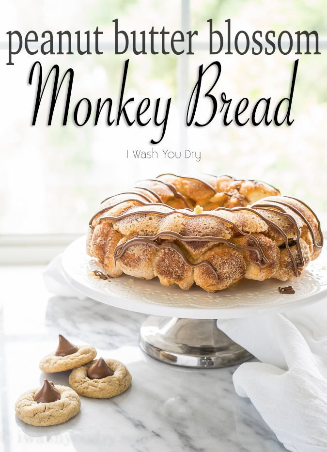 All the goodness of the classic peanut butter blossom, wrapped up in a warm and delicious monkey bread! My family loves this fun dessert recipe, but sometimes we even eat this for breakfast!