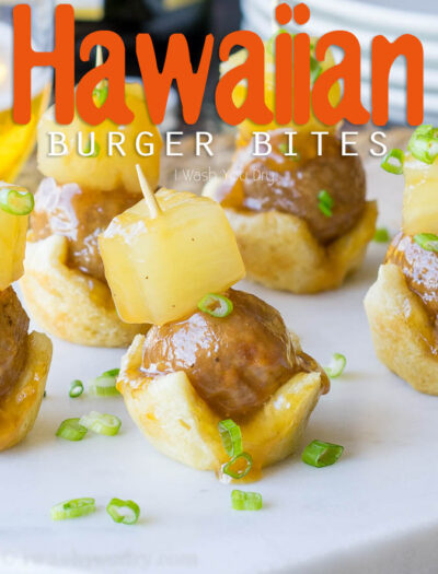 I love how easy these Hawaiian Burger Bites are to make! My whole family loved this simple appetizer recipe, and it was perfect finger food for game day!