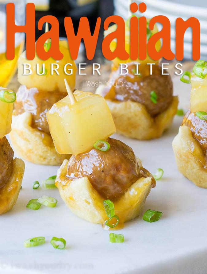 Hawaiian Burger Bites