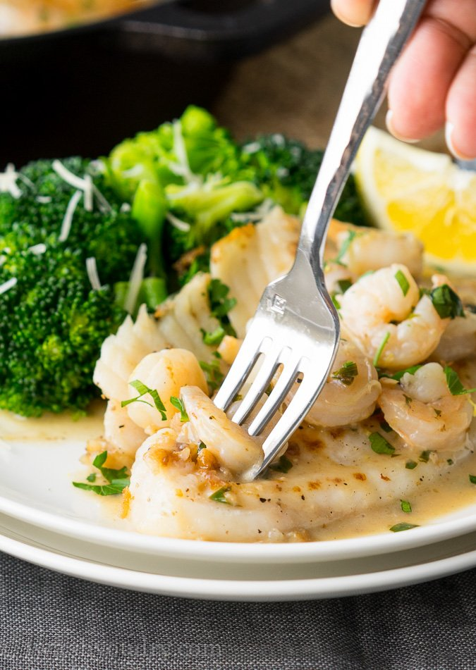 Skillet Tilapia with Shrimp