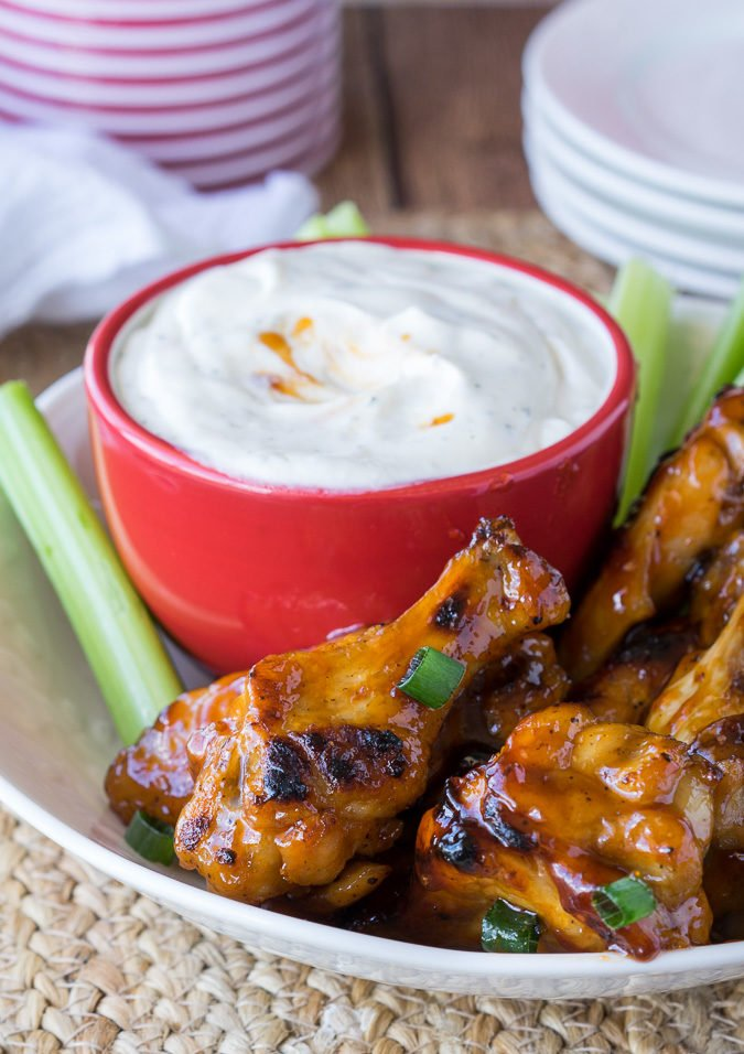 These Easy Baked Honey BBQ Chicken Wings are such a quick appetizer, you'll be chowing down in no time!