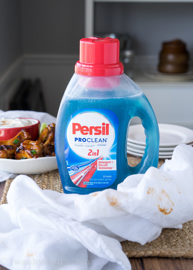 Persil 2in1 Laundry Detergent can tackle any mess, especially those that happen during the big game!