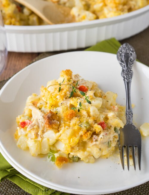 My whole family loved this Cheesy Chicken Potato Casserole! It came together so quickly and tasted amazing. Going to make it again very soon!